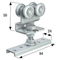 Каретка типа Z 4 ролика сталь,24мм.до 90 кг