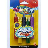 Мел карандаши для рисования в ванной карандаши 5 цветов, Colorino колорино
