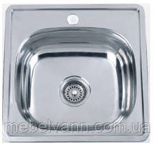 Кухонна мийка врізна 4848 полірування 0,8 160мм