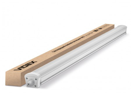 Светодиодный LED светильник 40W 3800Lm 5000К 1200мм IP65 Videx промышленный герметичный