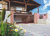 Откатные ворота Alutech 3250x2460, фото 1