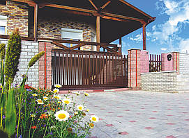 Откатные ворота Alutech 3250x2460