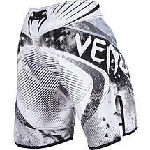 Шорты Venum Galactic Fightshorts White, фото 3
