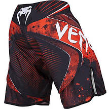 Шорты Venum Galactic Fightshorts Black Red, фото 3