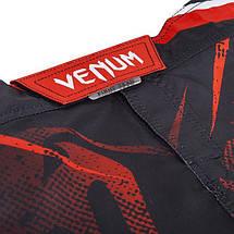 Шорти Venum Galactic Fightshorts Black Red, фото 2