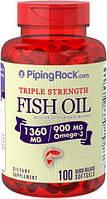PipingRock Fish Oil Omega 3 1360 mg 100 softgel