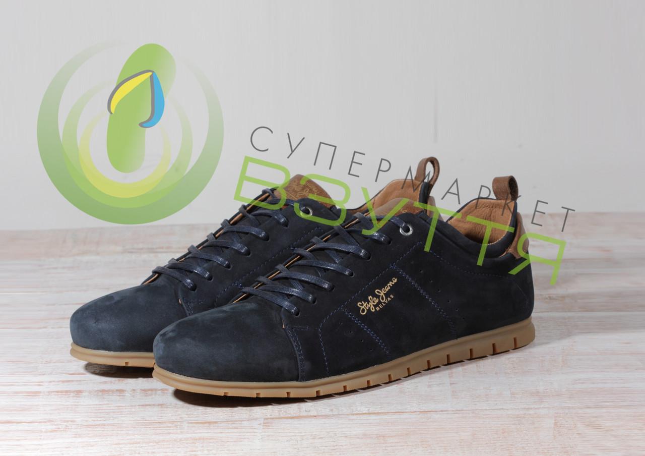 Замшевые мужские туфли Belvas  1805 син 43 размер