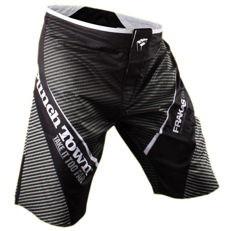 Шорты ММА PunchTown Frakas eX Carbon Shorts Black