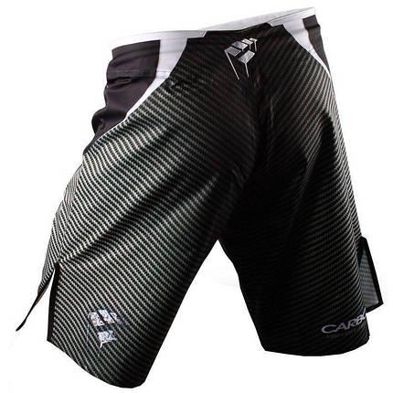 Шорты ММА PunchTown Frakas eX Carbon Shorts Black, фото 2
