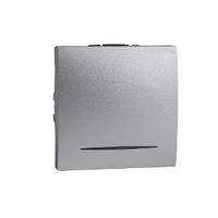 Выключатель проходной 16А с подсветкой Алюминий Unica Schneider, MGU3.263.30S