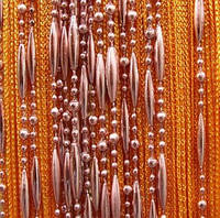 Нитяные шторы Цепи Оранжевые ( №3)