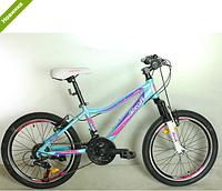 Детский сортивный  велосипед 20 дюймов PROFI G20CARE A20.2 голубой  12 рама ***