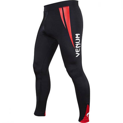 Компрессионные штаны Venum Challenger Spats Black Red, фото 2