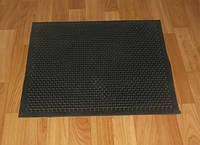 Придверный резиновый коврик ч шипами чёрного цвета