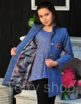 Кашемировое пальто - жилет для девочки подростка