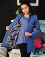 Кашемировое пальто - жилет для девочки подростка, фото 1