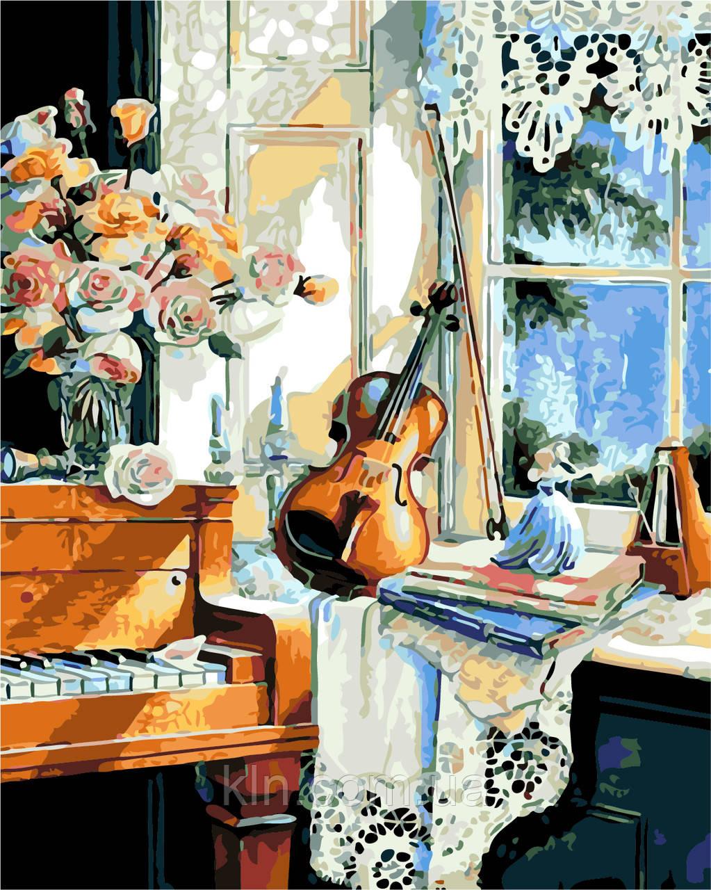 Картина по номерам ArtStory В гостях у музыки 40 х 50 см (арт. AS0201)