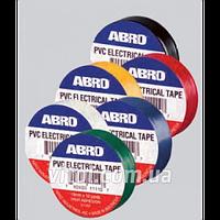 Изолента ABRO ET- 912 G зеленая, ширина 19 мм, длина 9,15 м, автохимия для ухода за авто, автохимия для ухода за машиной