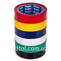 """Изоляционная лента PVC RUGBY (""""RUGBY""""-10), длина 30 м, ассорти, ПВХ, изолента, липкая лента, изоляционный материал, электроизоляционная лента"""