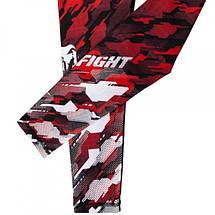 Компрессионные штаны Venum Tecmo Spats Red, фото 3