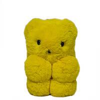 """Меховая сумка-рюкзак """"Медвежонок"""" 11 Цветов Желтый, фото 1"""