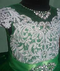 Дитяче бальне вечірнє плаття з мереживом і стразами на дівчинку 10-11 років., фото 3