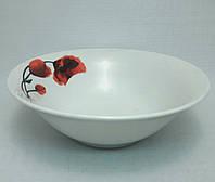 "Набор фарфоровых суповых тарелок TS-7, ""Маки"", 6 шт."