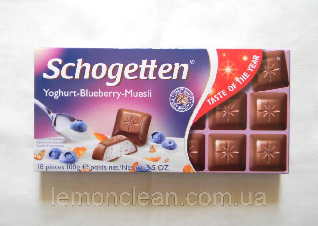 Шоколад Schogetten Youghurt-Blueberry-Muesli 100г