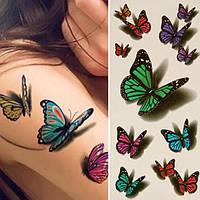 """Татуювання - наклейка 3D """"Метелики"""""""