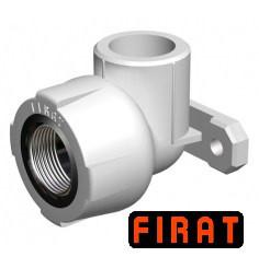 Колено настенное ППР Firat 25х1/2 ВР белое