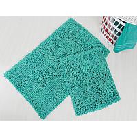 Набор ковриков для ванной Irya - Drop yesil зелёный - 60*100+45*60 см