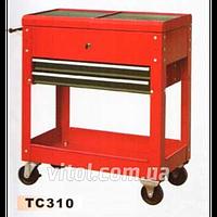 Тележка инструментальная для гаража (TC 310), полки 2 штуки, ящик, тележка для инструментов, тележка для автоинструмента
