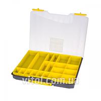 """Ящик пластиковый для метизов Alloid (MJ3135), 20 ячеек, размер 16.5"""", параметры 415 х 330 х 55 мм, ящик инструментальный, ящик для авто инструмента"""