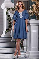 Легкое женское платье в 4х цветах 2602-06-07-08, фото 1