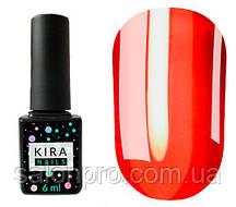 Гель-лак Kira Nails Vitrage №V01 (красный, витражный), 6 мл