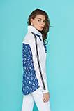 Комбинированная Блуза-рубашка с ассиметричным низом 44-52р, фото 2