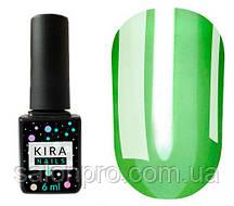 Гель-лак Kira Nails Vitrage №V04 (зеленый салатовый, витражный), 6 мл