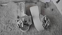 Сабо Star Банты! Босоножки женские кожаные шлепанцы на  платформе