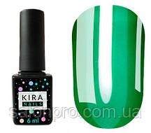 Гель-лак Kira Nails Vitrage №V07 (зеленый темный, витражный), 6 мл
