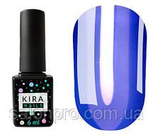Гель-лак Kira Nails Vitrage №V09 (синий, витражный), 6 мл