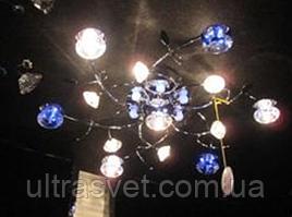 Люстра галогенная  потолочная с подсветкой и пультом М831