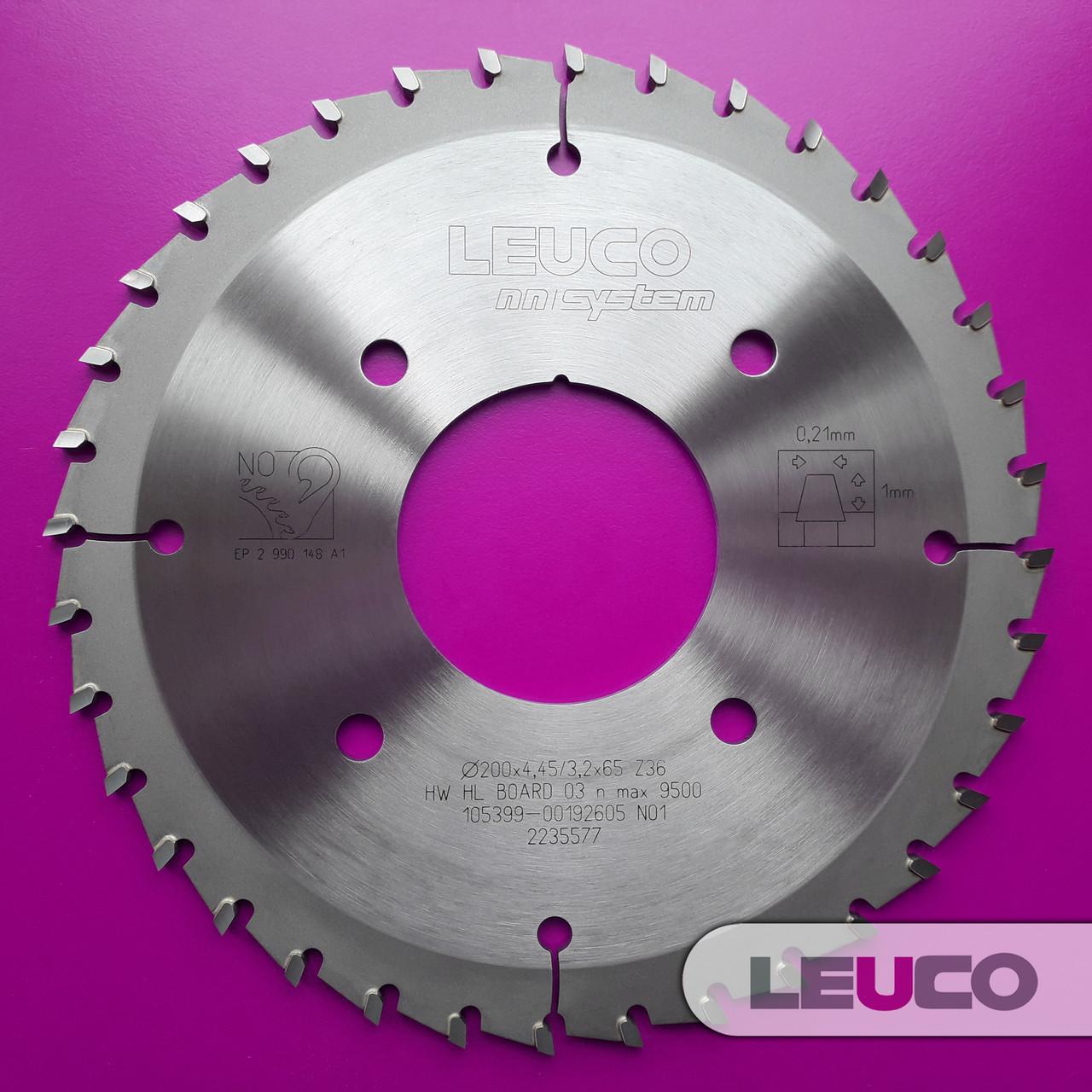 Подрезная дисковая пила Leuco для пильных центров 200х4,45-5,25х3,2х65, Z=36