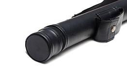 Тубус для кия с карманом на кнопке черный гладкий