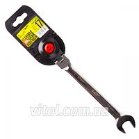 Ключ комбинированный для автосервиса Alloid (КТ-2081-15 К), трещоточный, с карданом, размер 15 мм, ключ-трещотка, трещотка, карданный ключ