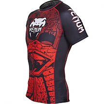 Рашгард Venum Crimson Viper Rashguard Short Sleeves Black Red, фото 3
