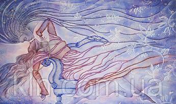 Набор для вышивания бисером FLF-124 Поцелуй снежной птицы 30*50 Волшебная страна качественный