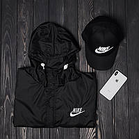 Комплект анорак + кепка Nike (можно отдельно), черный