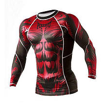Рашгард Peresvit Beast Silver Force Rashguard Long Sleeve Red