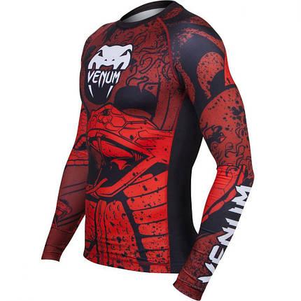 Рашгард Venum Crimson Viper Rashguard Long Sleeves Black Red, фото 2