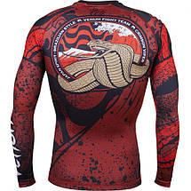 Рашгард Venum Crimson Viper Rashguard Long Sleeves Black Red, фото 3